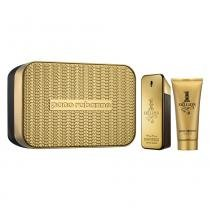 1 Million Eau de Toilette Paco Rabanne - Kit de Perfume Masculino 100ml + Gel de Banho 100ml - Paco Rabanne