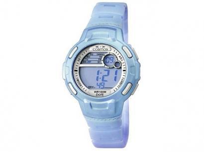 Relógio Feminino Cosmos OS 48523 A - Digital com Cronômetro e Calendário