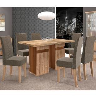 Conjunto de Mesa New Napoli com 6 cadeiras - Dj Móveis
