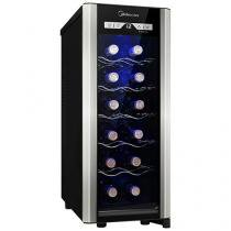 Adega Climatizada Midea 12 Garrafas Liva - Painel Touch Controle Digital de Temperatura
