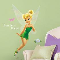 Adesivo de Parede Infantil de parede Tinker Bell Gigante com alfabeto Fadas Disney removível  Roommates - Roommates