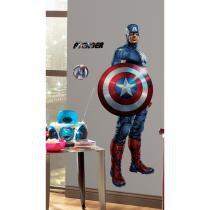 Adesivo de Parede Infantil Os Vingadores (Avengers) - Capitão América da Marvel removível - Roommates - Roommates