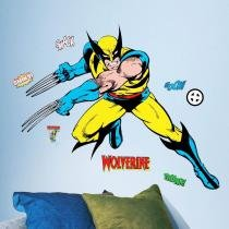 Adesivo de Parede Infantil Wolverine  Clássicos da Marvel  Gigante  Removível  Roommates - Roommates