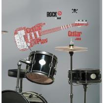 Adesivo de Parede removível Guitarra Rock Gigante   Roommates - Roommates