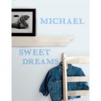 Adesivo para Quarto de Bebê Alfabeto Azul Removível  Roommates - Roommates