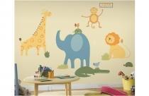 Adesivo para Quarto de Bebê Animais do Zoológico   Roommates - Roommates