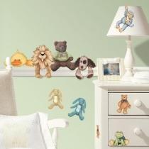 Adesivo para Quarto de Bebê Animais fofinhos -Roommates - Roommates