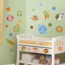 Adesivo para Quarto de Bebê Animal na Selva removível - Roommates - Roommates
