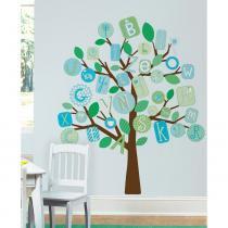 Adesivo para Quarto de Bebê Árvore Azul ABC removível - Roommates - Roommates