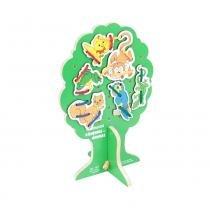 Alinhavos com 10 Bichinhos na Árvore em MDF 1812 - Carlu - Carlu