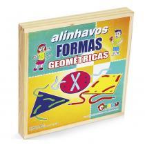 Alinhavos Formas Geométricas em MDF 12 pç 1510 Carlu - Carlu