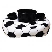 Almofada Porta Pipoca Bola de Futebol - Branco - Kathavento Presentes