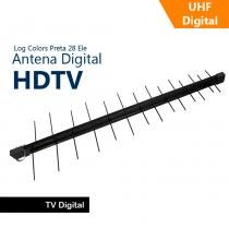 Antena Capte Banda Total Custom Log 14/28e 18dBi Preta - Capte