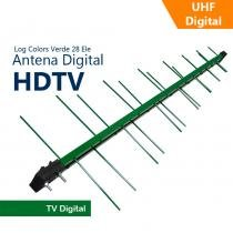 Antena Capte Banda Total Custom Log 14/28e 18dBi Verde - Capte