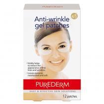 Anti-Wrinkle Gel Purederm - Adesivo Rejuvenescedor para os Olhos - 12 Unidades - Purederm