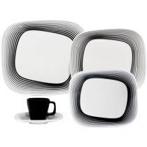 Aparelho de Jantar 20 Peças Oxford Porcelana - Retangular Shift Wisk Karin Rashid