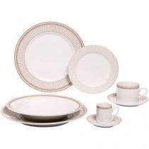 Aparelho de Jantar 42 Peças Schmidt Porcelana - Redondo Colorido Vera