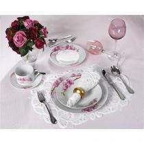 Aparelho de Jantar Café 20 Peças Casambiente - Porcelana Redondo Colorido APJA001