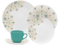 Aparelho de Jantar Chá 20 peças Oxford - Porcelana Redondo Branco Coup Lindy Hop