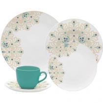 Aparelho de Jantar Chá 30 Peças Oxford - Porcelana Redondo Branco Coup Lindy Hop