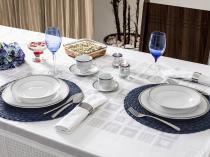 Aparelho de Jantar Chá Café 42 Peças Casambiente - Porcelana Redondo Branco Royal Castle APJA007