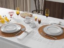 Aparelho de Jantar Chá Café 42 Peças Casambiente - Porcelana Redondo Branco Royal Castle APJA010