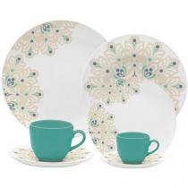 Aparelho de Jantar Chá Café 42 Peças Oxford - Porcelana Redondo Branco Coup Lindy Hop