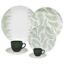 Aparelho de Jantar Chá Café 42 Peças Oxford - Porcelana Redondo Estampado Coup Fresh