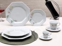 Aparelho de Jantar Classic Encanto 42 Peças - em Porcelana - Schmidt