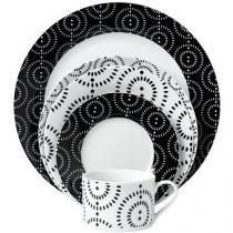 Aparelho de Jantar Dots 20 Peças em Porcelana - Casambiente APJA015
