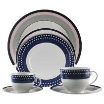 Aparelho de Jantar em Porcelana 42 Peças - Casambiente Royal