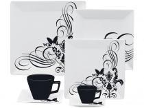 Aparelho de Jantar em Porcelana 42 Peças - Oxford Porcelanas Quartier Tattoo