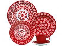 Aparelho de Jantar Floreal Renda 20 Peças - em Cerâmica - Oxford