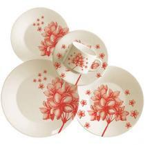 Aparelho de Jantar Yasmin 30 Peças - em Cerâmica - Oxford