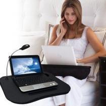 Apoio para Notebook VEXLED com Luminária Led Removível - Preto - Vedor