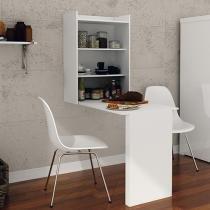 Armário com mesa Dobrável de Parede Móveis Videira - Tecnomobili