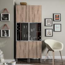 Armário de Cozinha Líder Casa Aroma - 6 Portas