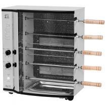 Assador a Gás Giratório/Automático em Aço Inox 1/30 CHA Branco - Hidro - Bivolt - Hidro