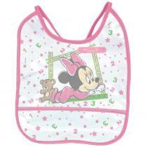 Babador Minnie Baby Go Pvc Decorado 1UN - Baby Go