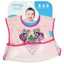 Babador para Bebê Impermeável com Bolso Clingo - Moranguinho - Neutra - Clingo