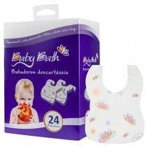 Babadores para Bebê Descartáveis Baby Bath - 24 UN - Neutra - Baby Bath