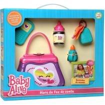 Baby Alive Bolsinha da Mamãe Hora do Faz de Conta - Elka 987