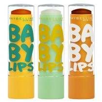 Baby Lips Super Frutas Maybelline - Kit Hidratante Labial - Abacaxi-Hortelã + Limão + Cacau - Maybelline