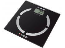 Balança Digital com Medidor de Gordura - Vidro Temperado Super fina - Kikos Pegasus