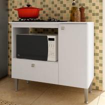 Balcão com Tampo para Cooktop Art In Móveis - 1 Porta 1 Gaveta BL 1090