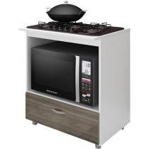 Balcão com Tampo para Cooktop Completa Móveis - 1 Gaveta