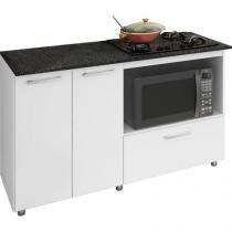 Balcão com Tampo para Cooktop Completa Móveis - 2 Portas 1 Gaveta