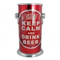 Balde Cooler Keep Calm - Vermelho - BMC Alumínios