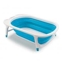 Banheira Dobrável Flexi Bath Azul - Multikids Baby - Multikids Baby