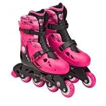 Barbie Patins Ajustável 33 a 36 com Acessórios - Intek - 33 a 36 - Intek